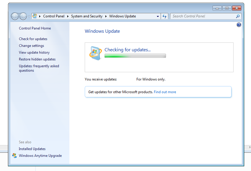 Windows 7 Update Keeps Searching